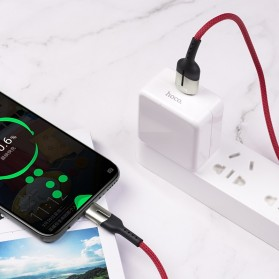 HOCO Gusto Kabel Charger USB Type C 5A 1.2 Meter - U68 - Black - 7