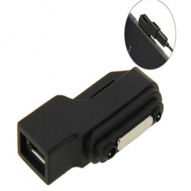 SZKOSTON Micro USB to Magnetic Charger Adapter for Sony Xperia Z3 /Z2 / Z1 / Z Ultra - L39H - Black