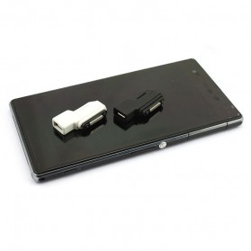 SZKOSTON Micro USB to Magnetic Charger Adapter for Sony Xperia Z3 /Z2 / Z1 / Z Ultra - L39H - Black - 2