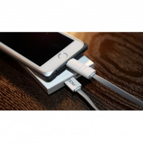 Rock Safe 2 in 1 Charge Speed Charging Cable Lightning & Micro USB - White/Silver - 2
