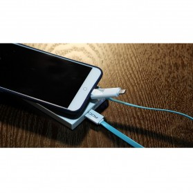 Rock Safe 2 in 1 Charge Speed Charging Cable Lightning & Micro USB - White/Silver - 4