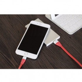 Rock Micro USB Auto-Disconnect Data Cable for Smartphone - Red - 3