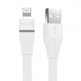 Rock Lightning Auto-Disconnect Data Cable for iPhone 5/6/7/8/X - White