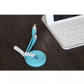 Rock Lightning Auto-Disconnect Data Cable for iPhone 5/6/7/8/X - White - 2