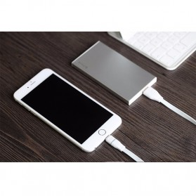 Rock Lightning Auto-Disconnect Data Cable for iPhone 5/6/7/8/X - White - 3