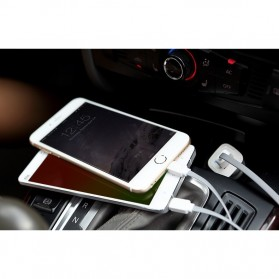 Rock Smart Safe 2 in 1 Charging Cable Lightning & Micro USB - White/Blue - 3