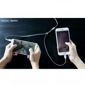 Rock Smart Safe 2 in 1 Charging Cable Lightning & Micro USB - White/Blue - 4