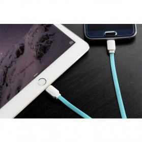 Rock Smart Safe 2 in 1 Charging Cable Lightning & Micro USB - White/Blue - 6