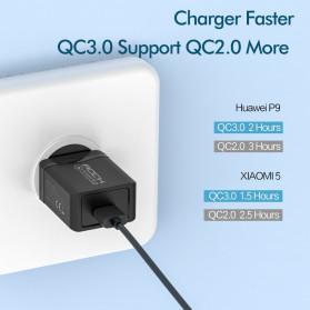 ROCK Charger USB 1 Port QC3.0 2.4A 18W EU Plug - LZ-023 - Black - 2