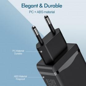 ROCK Charger USB 1 Port QC3.0 2.4A 18W EU Plug - LZ-023 - Black - 4