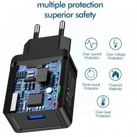 ROCK Charger USB 1 Port QC3.0 2.4A 18W EU Plug - LZ-023 - Black - 5