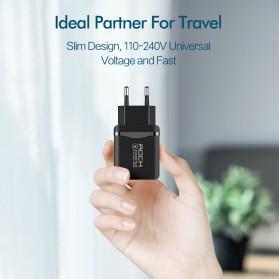 ROCK Charger USB 1 Port QC3.0 2.4A 18W EU Plug - LZ-023 - Black - 6