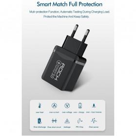 ROCK Charger USB 1 Port QC3.0 2.4A 18W EU Plug - LZ-023 - Black - 8