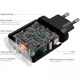 Aukey Charger USB 2 Port EU Plug 36W dengan QC 2.0 & AIPower - PA-T7 - Black - 3