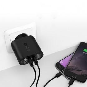 Aukey Charger USB 2 Port EU Plug 36W dengan QC 2.0 & AIPower - PA-T7 - Black - 4