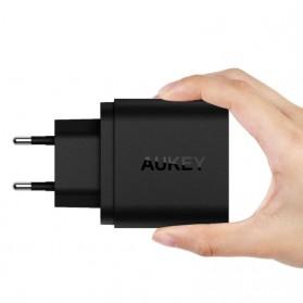 Aukey Charger USB 2 Port EU Plug 36W dengan QC 2.0 & AIPower - PA-T7 - Black - 5
