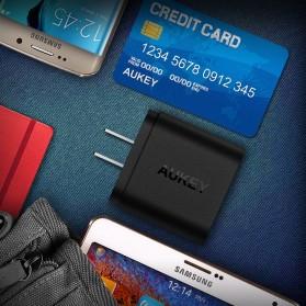 Aukey Charger USB 2 Port EU Plug 36W dengan QC 2.0 & AIPower - PA-T7 - Black - 6