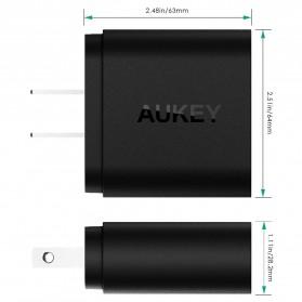 Aukey Charger USB 2 Port EU Plug 36W dengan QC 2.0 & AIPower - PA-T7 - Black - 7