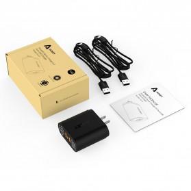Aukey Charger USB 2 Port EU Plug 36W dengan QC 2.0 & AIPower - PA-T7 - Black - 8