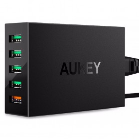 Aukey Charger USB 5 Port QC 3.0 & AiPower - PA-T15 - Black