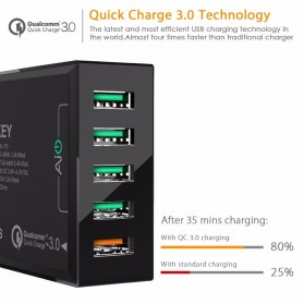 Aukey Charger USB 5 Port QC 3.0 & AiPower - PA-T15 - Black - 2