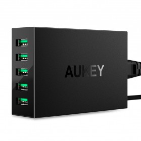Aukey USB Charging Station 5 Port 50W 5V/10A with AIPower Tech - PA-U33 - Black