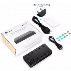 Aukey Charger USB 10 Port QC3.0 - PA-T8 - Black - 5