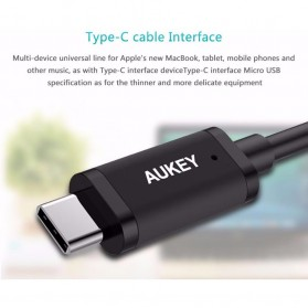 Aukey Charger USB 2 Port+1 Port Type C 2.4A QC3.0 & AiPower - PA-Y4 - Black - 3