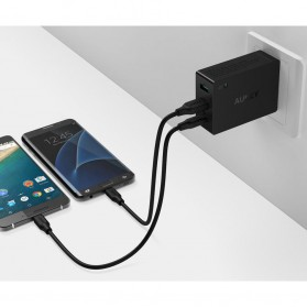Aukey Charger USB 2 Port+1 Port Type C 2.4A QC3.0 & AiPower - PA-Y4 - Black - 4