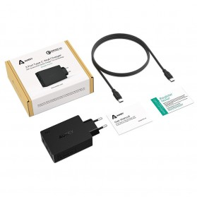 Aukey Charger USB 2 Port+1 Port Type C 2.4A QC3.0 & AiPower - PA-Y4 - Black - 7