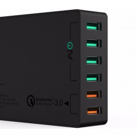 Aukey Charger USB 6 Port 60W 2.4A QC3.0 & AiPower - PA-T11 - Black - 2