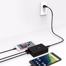 Aukey Charger USB 6 Port 60W 2.4A QC3.0 & AiPower - PA-T11 - Black - 6