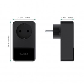 Adapter & Konverter Travel - Aukey Universal Travel Charger dengan 4 USB Ports EU Plug - PA-S12 - Black