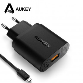Aukey Wall Charger USB QuickCharge 3.0 EU Plug - PA-T9 - Black