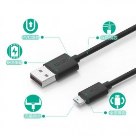 Aukey Kabel Charger Micro USB 2m - CB-D9 - Black - 2