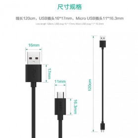 Aukey Kabel Charger Micro USB 1.2m 3PCS - CB-D10 - Black - 4
