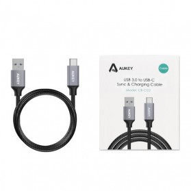 Aukey Kabel Charger USB Type C 1m - CB-CD2 - Gray - 5