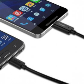 Aukey Kabel Charger USB Type C + Micro USB 1m 3 PCS - CB-TD1 - Black - 2