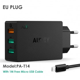 Aukey Charger USB 3 Port Quick Charge 3.0 - PA-T14 - Black