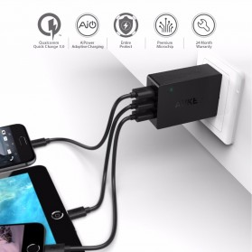 Aukey Charger USB 3 Port Quick Charge 3.0 - PA-T14 - Black - 2