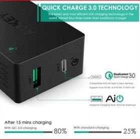 Aukey Charger USB 2 in 1 USB Type C Quick Charge 3.0 - PA-Y2 - White - 5