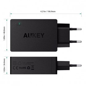 Aukey Charger USB 2 in 1 USB Type C Quick Charge 3.0 - PA-Y2 - White - 6