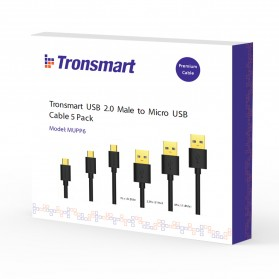 Tronsmart Kabel Fast Charging Micro USB to USB 2.0 - MUPP6 (5 PCS) - Black - 5