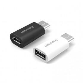 Tronsmart USB 2.0 Type C to Micro USB Female Adapter 2PCS (backup) - Black