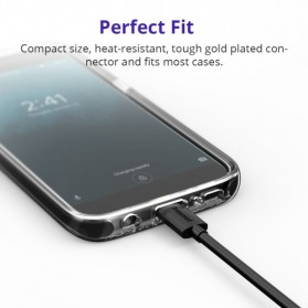 Tronsmart Kabel Charger Micro USB Pet Coating 2A 1 Meter - MUS03 - Black - 4