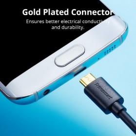 Tronsmart Kabel Charger Micro USB Pet Coating 2A 1 Meter - MUS03 - Black - 5