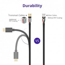 Tronsmart Kabel Charger Micro USB Pet Coating 2A 1 Meter - MUS03 - Black - 6
