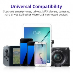 Tronsmart Kabel Charger Micro USB Pet Coating 2A 1 Meter - MUS03 - Black - 8