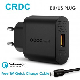 CRDC Charger USB 1 Port Quick Charge 2.0 18W - PA-U28 - Black