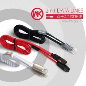 WK Twins 2 in 1 Kabel Micro USB & Lightning - Black - 4